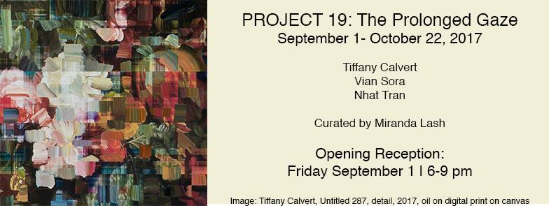 Opening at Zephyr Gallery PROJECT 19: The Prolonged Gaze